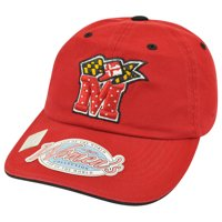 NCAA Top of World Maryland Terrapins Terps Womens Rhinestone Bling Hat Cap Red