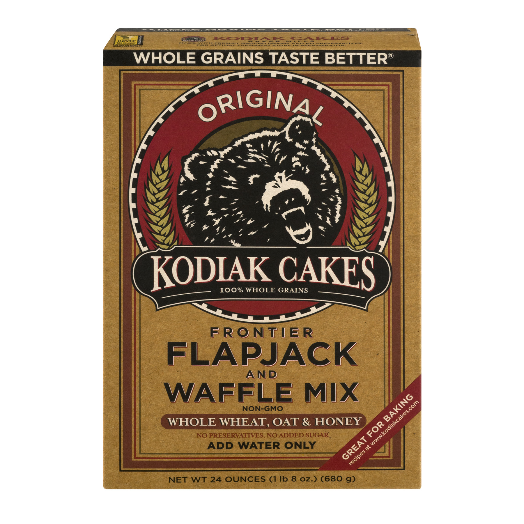 Kodiak Cakes Frontier Flapjack And Waffle Mix Original, 24.0 OZ by Baker Mills Inc