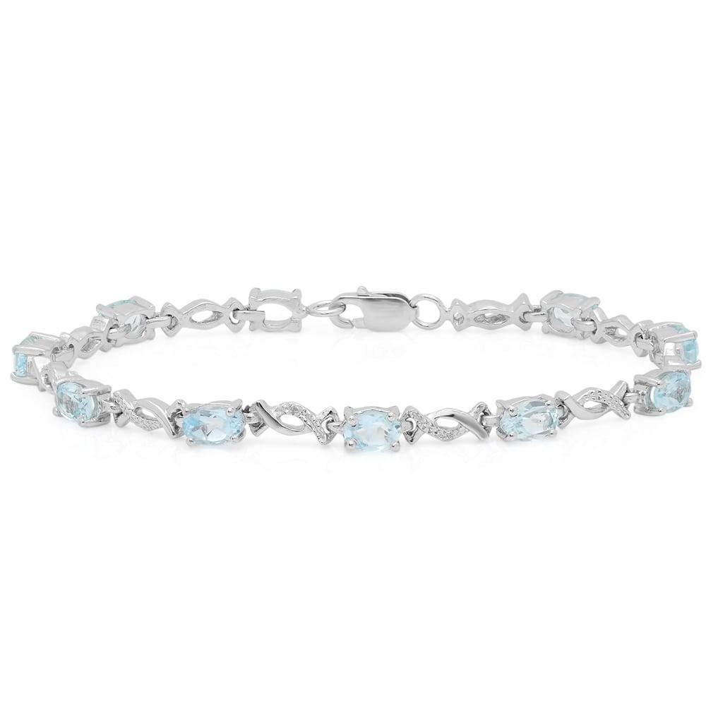 sterling silver infinity link bracelet walmart