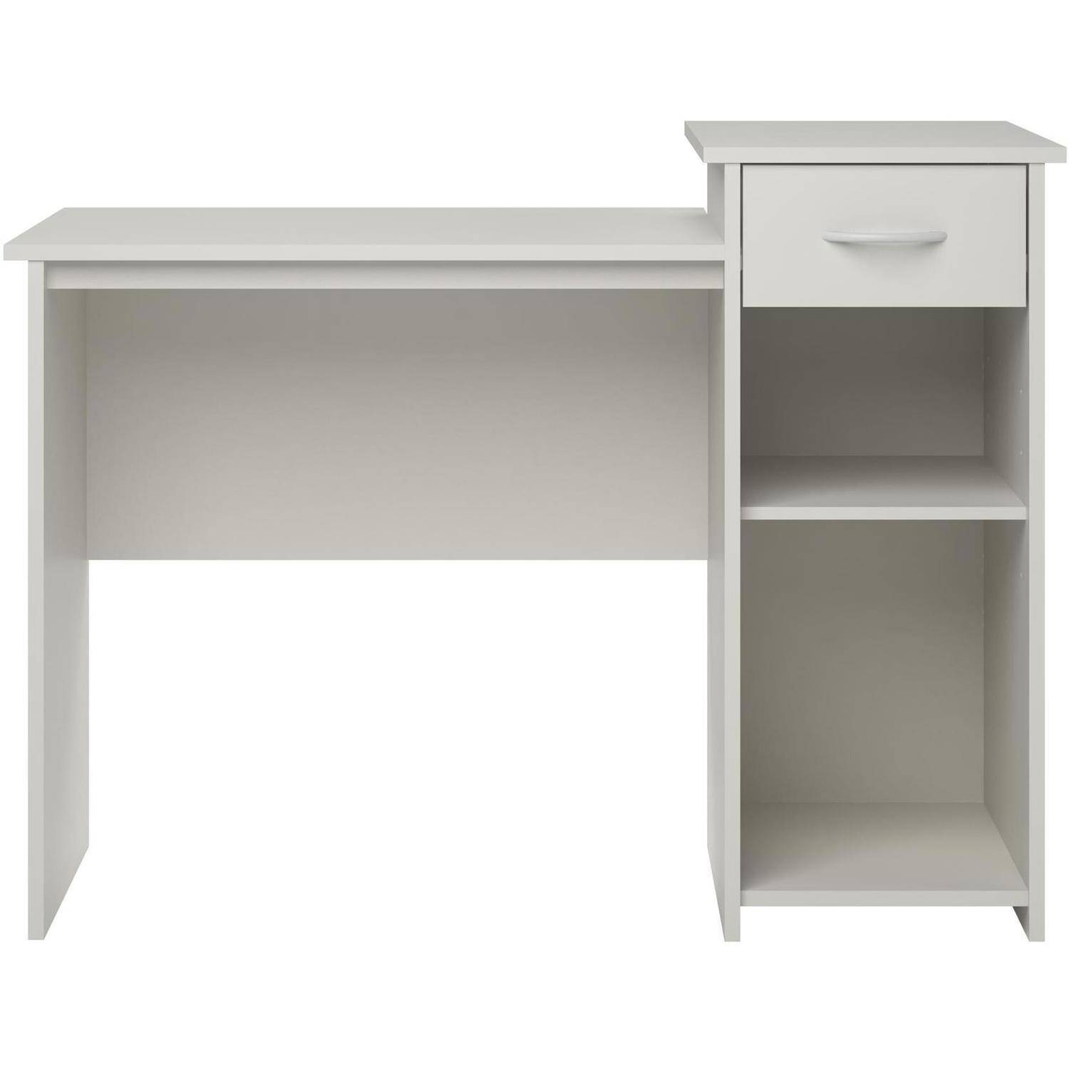 Mainstays Student Desk with Easy-glide Drawer, White Finish