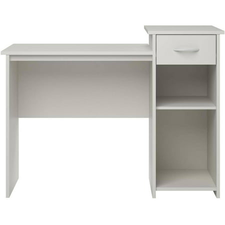 Mainstays Student Desk with Drawer, White Finish