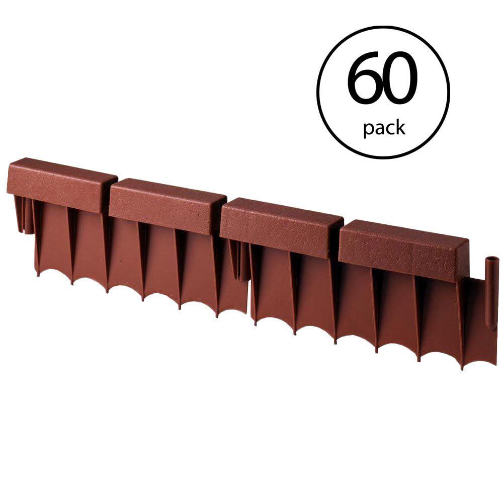 "Suncast 10 Foot Interlocking Brick Resin Border Edging, 12"" Sections (60 Pack)"