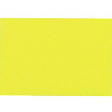 Gold Flat Handle - A6 Flat Card (4 5/8 x 6 1/4) - Citrus Yelow (500 Qty.)