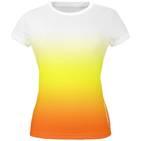 Halloween Candy Corn Ombre Costume All Over Juniors T - Usa Today Halloween Candy