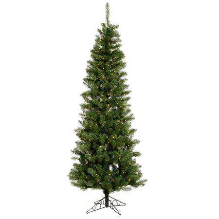 7.5ft Pre-Lit Salem Pencil Pine Artificial Tree LED Warm White - Vickerman