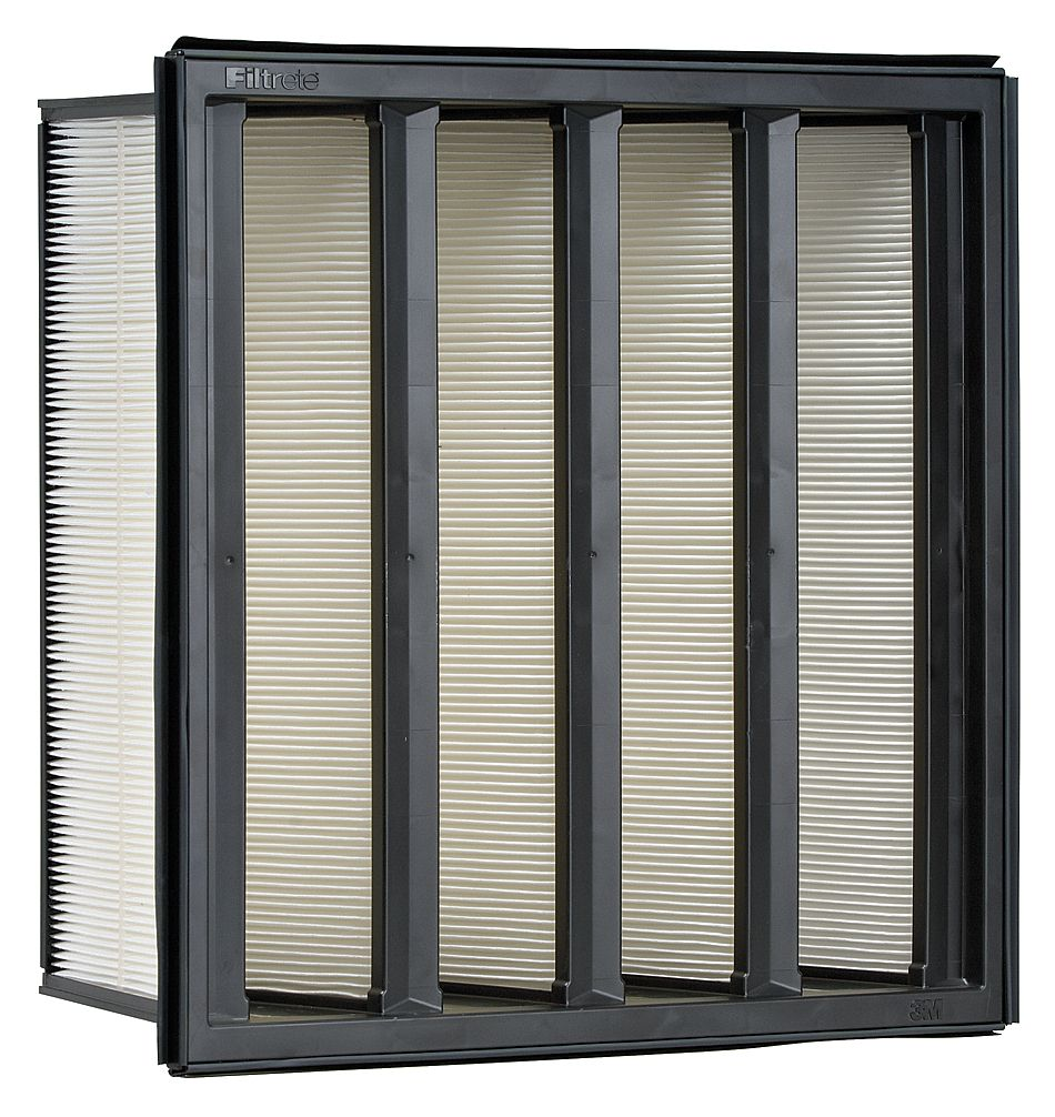 3M 12x24x12 Synthetic V-Bank Air Filter with MERVA14/15 a...