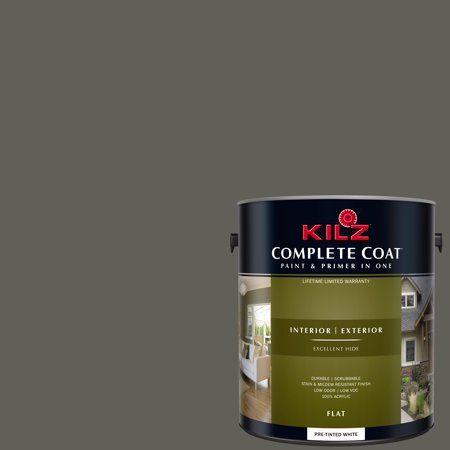 KILZ COMPLETE COAT Interior/Exterior Paint & Primer in One #RM190 Dark - Dark Brown Leather Finish