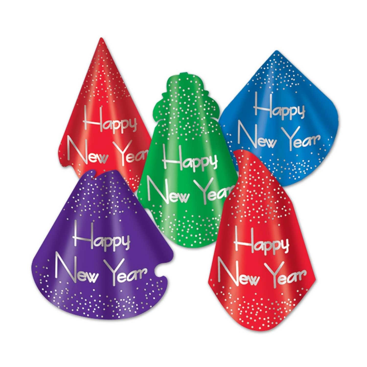 """Club Pack of 50 Headliner """"Happy New Years"""" Legacy Party Favor Hats"""
