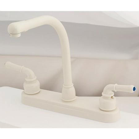 "Empire Brass U-YBB800RSB Biscuit 8"" Hi-Rise Kitchen Faucet with Tea Pot Handles"
