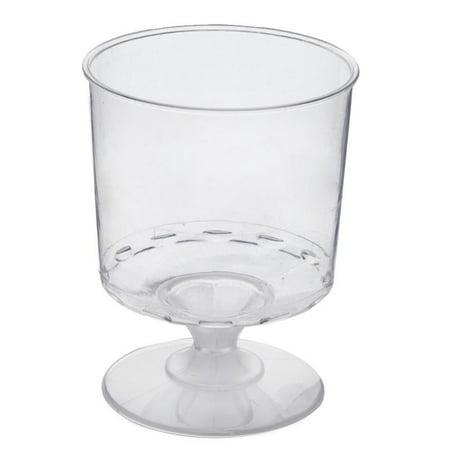 BalsaCircle 12 pcs 6 oz Disposable Plastic Wine Glasses Clear by