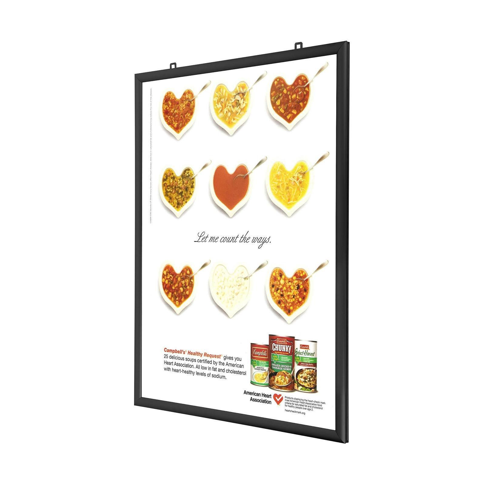 black doublesided snap frame poster size 11x17 125