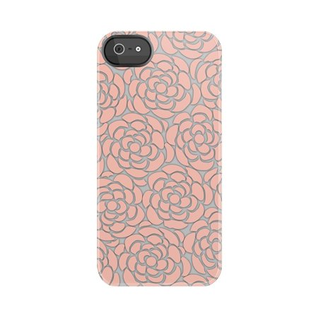 Uncommon LLC Powder Pink Lace Black Bezel Deflector Hard Case for iPhone 5/5S - Retail Packaging - (Lace Bezel)