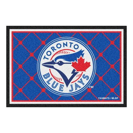 Toronto Blue Jays Baseball Rug (MLB - Toronto Blue Jays 5'x8')