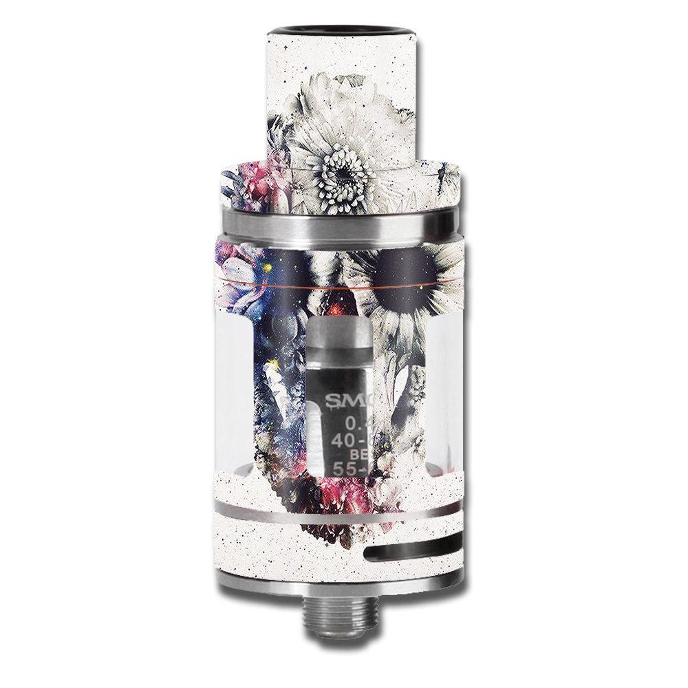 Skins Decals For Smok Micro Tfv8 Baby Beast Vape Mod / Flower Skull