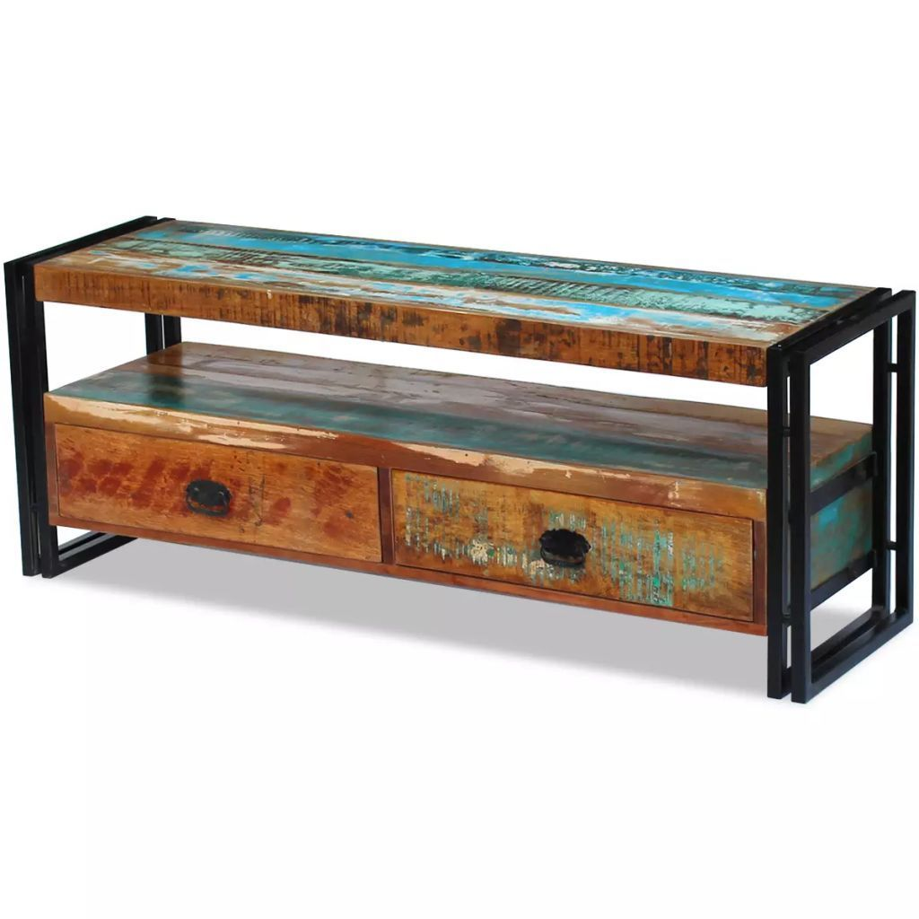 vidaXL Solid Reclaimed Wood TV Stand Cabinet Unit Media Entertainment Center