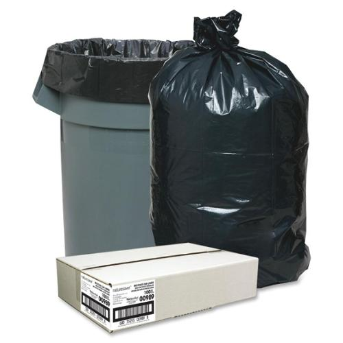 "Nature Saver Trash Liner - Medium Size - 33 gal - 33"" Width x 39"" Length x 1.25 mil (32 Micron) Thickness - Low Density"