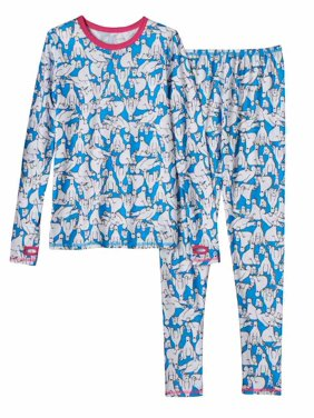 Product Image Cuddl Duds Chill Chasers Girls Blue Polar Bear Thermal  Underwear Base Layer a1b9f66cb