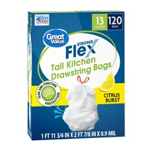 Trash Bags: Great Value Strong Flex
