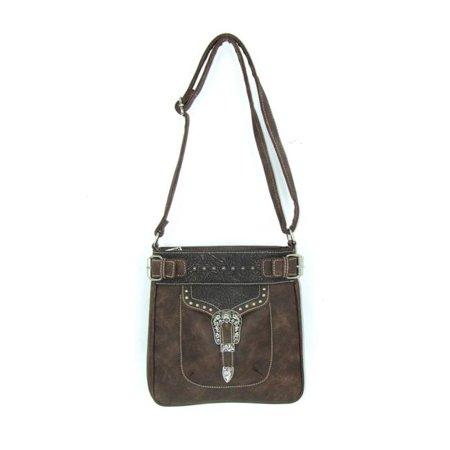 Savana No.PK-934 TN Ladies Faux Leather Distressed Messenger Bag, Tan