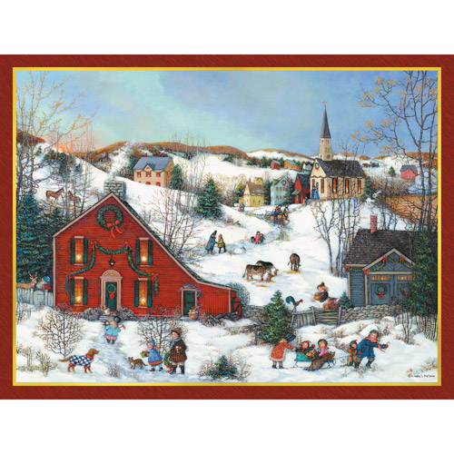 "Lang ""Christmas Saltbox"" Deluxe Boxed Christmas Cards"