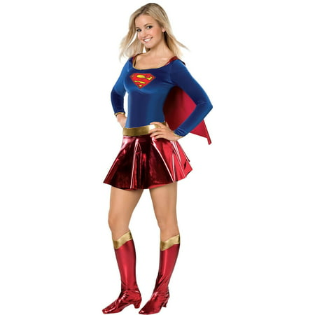 Teen Deluxe Supergirl Halloween Costume](Barbie Teen Costume)