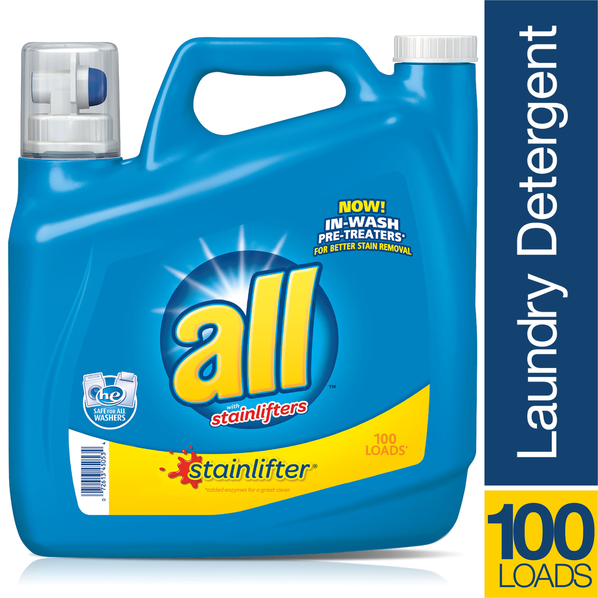 all Stainlifter Liquid Laundry Detergent, 100 Loads, 150 Oz