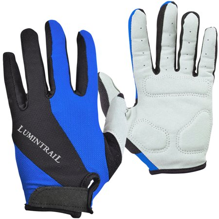 Lumintrail Shock-Absorbing Riding Full Finger Cycling Gloves Breathable Sport for Men and Women