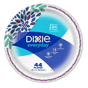 """Dixie Everyday 10 1/16"""", 44 count Paper Plates, Dinner Plates, New!"""