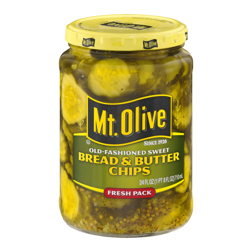 Mt. Olive Bread & Butter Chips Old-Fashioned Sweet, 24.0 FL OZ
