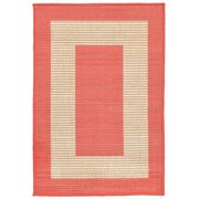 Liora Manne Terrace 1786/27 Border Coral Area Rug 23 Inches X 35 Inches