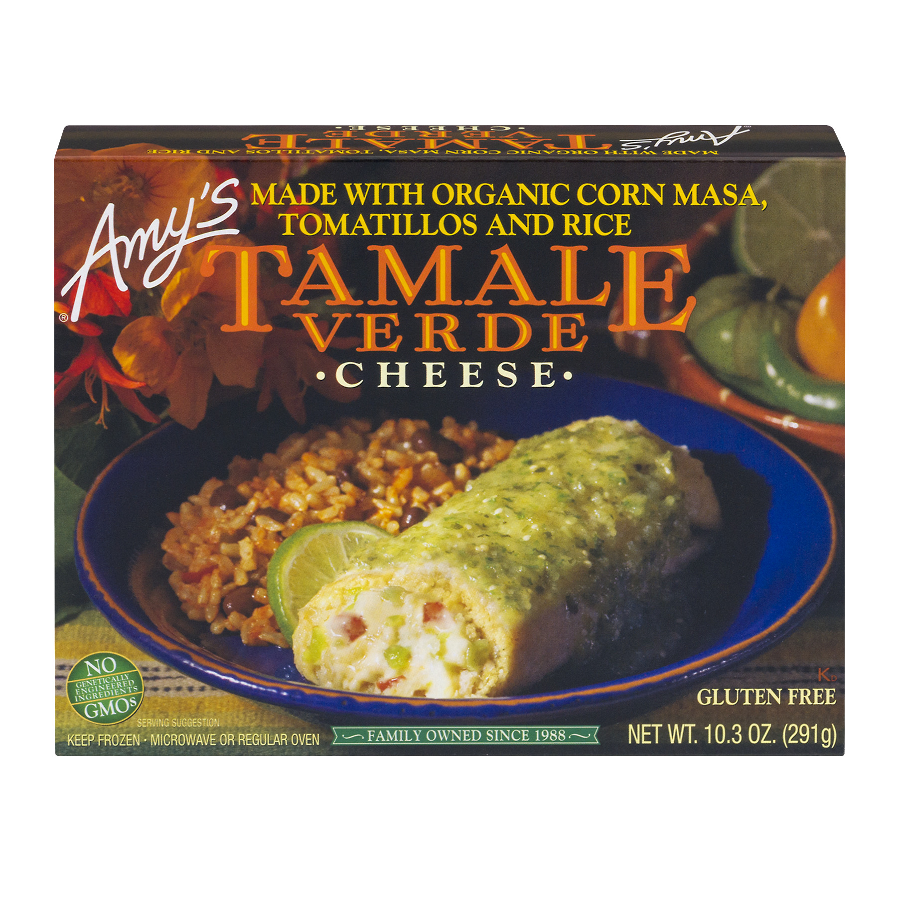 Amy's Tamale Verde Cheese, 10.3 OZ