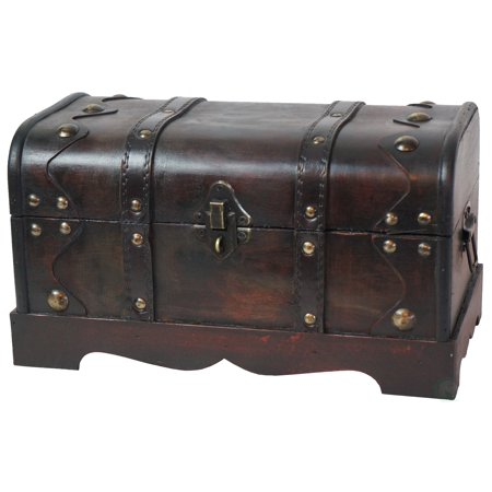 Small Pirate Style Wooden Treasure Chest Turquoise Treasure Chest