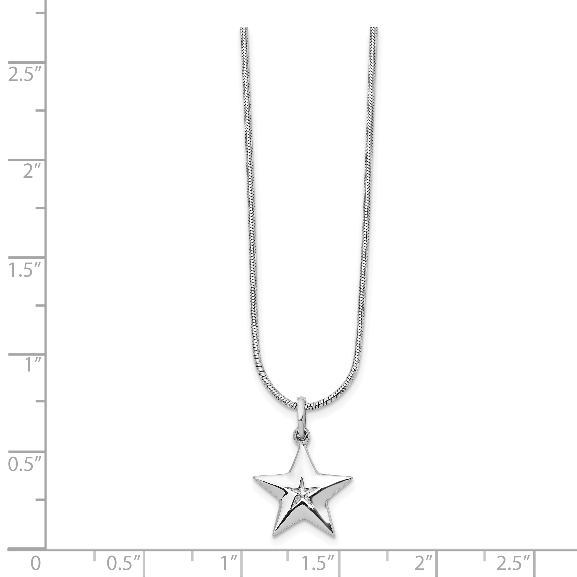 925 Sterling Silver Diamond Star Chain Necklace Pendant Charm Sun Moon Fine Jewelry Gifts For Women For Her - image 5 de 8