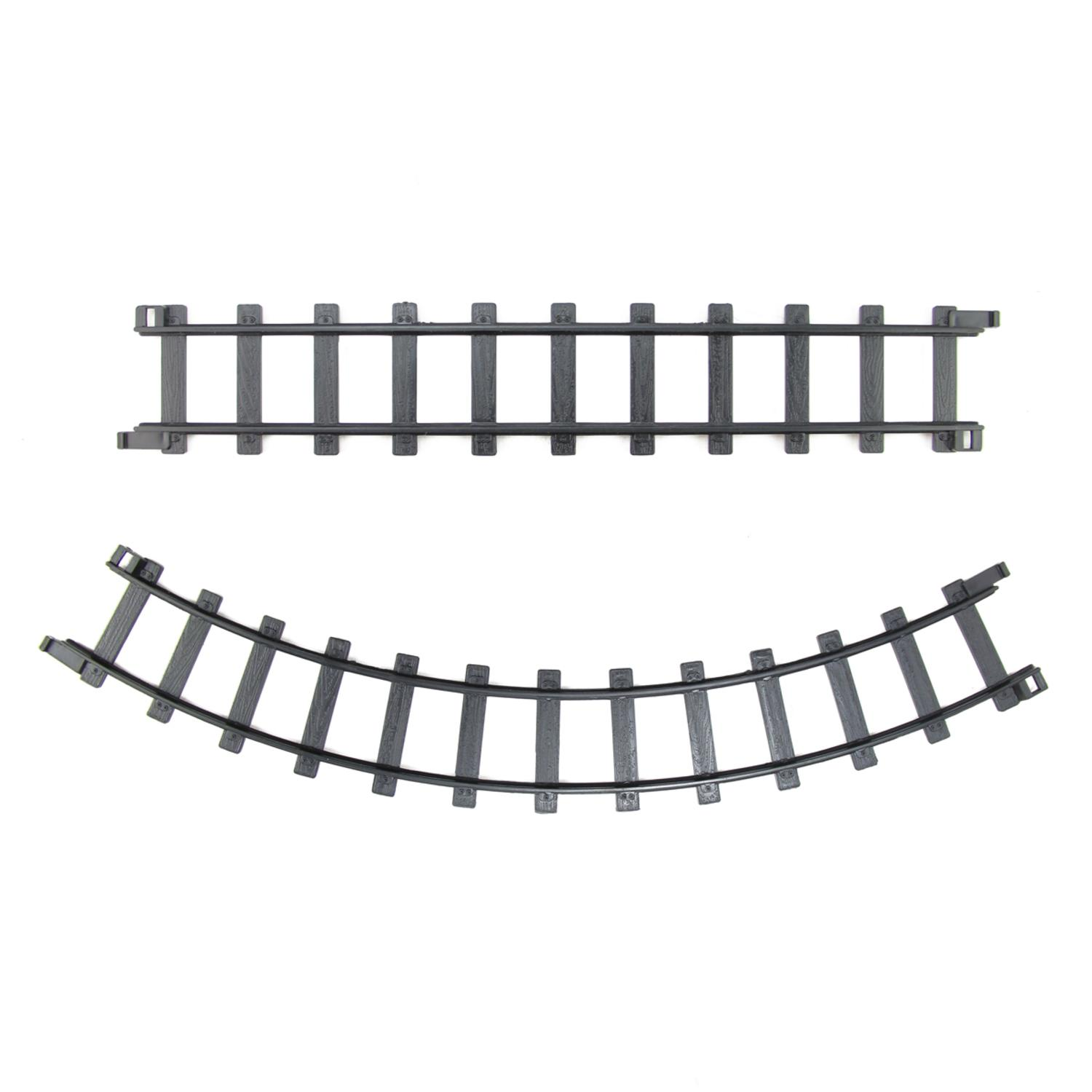 "Pack of 12 Black Replacement Train Set Track Pieces - 2"" x 12"""