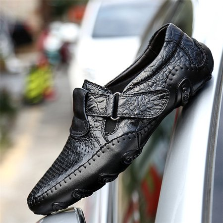 Genuine Snakeskin Loafers (Men's Casaul Shoes Genuine Leather Beans Driving Loafers Moccasins Boat Casual Work Waterproof Shoes )
