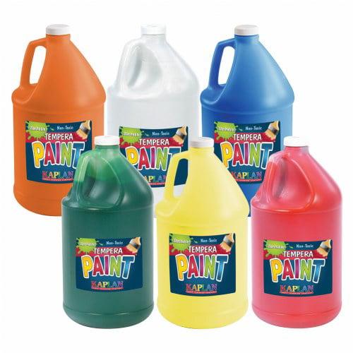 Kaplan Kolors Washable Tempera Paint Set of 6 Gallons
