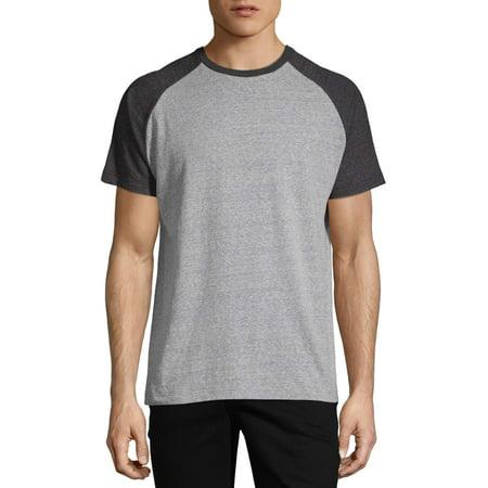 George Men's and Big Men's Raglan Ringer Tee, Up To Size 3XL Blue Kids Ringer T-shirt