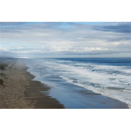 Waves Crashing Along A Beach - Oregon United States of America Poster Print - 38 x 24 in. - Large - image 1 of 1
