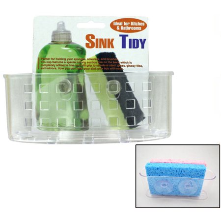 Kitchen Sink Caddy Organizer Sponge Dish Brush Holder Suction Cup ...