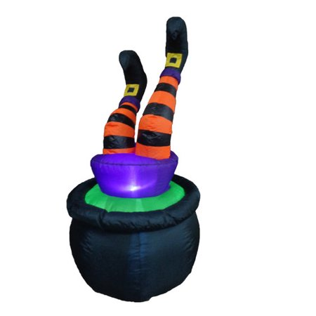 The Holiday Aisle Halloween Inflatable Witch in Pot
