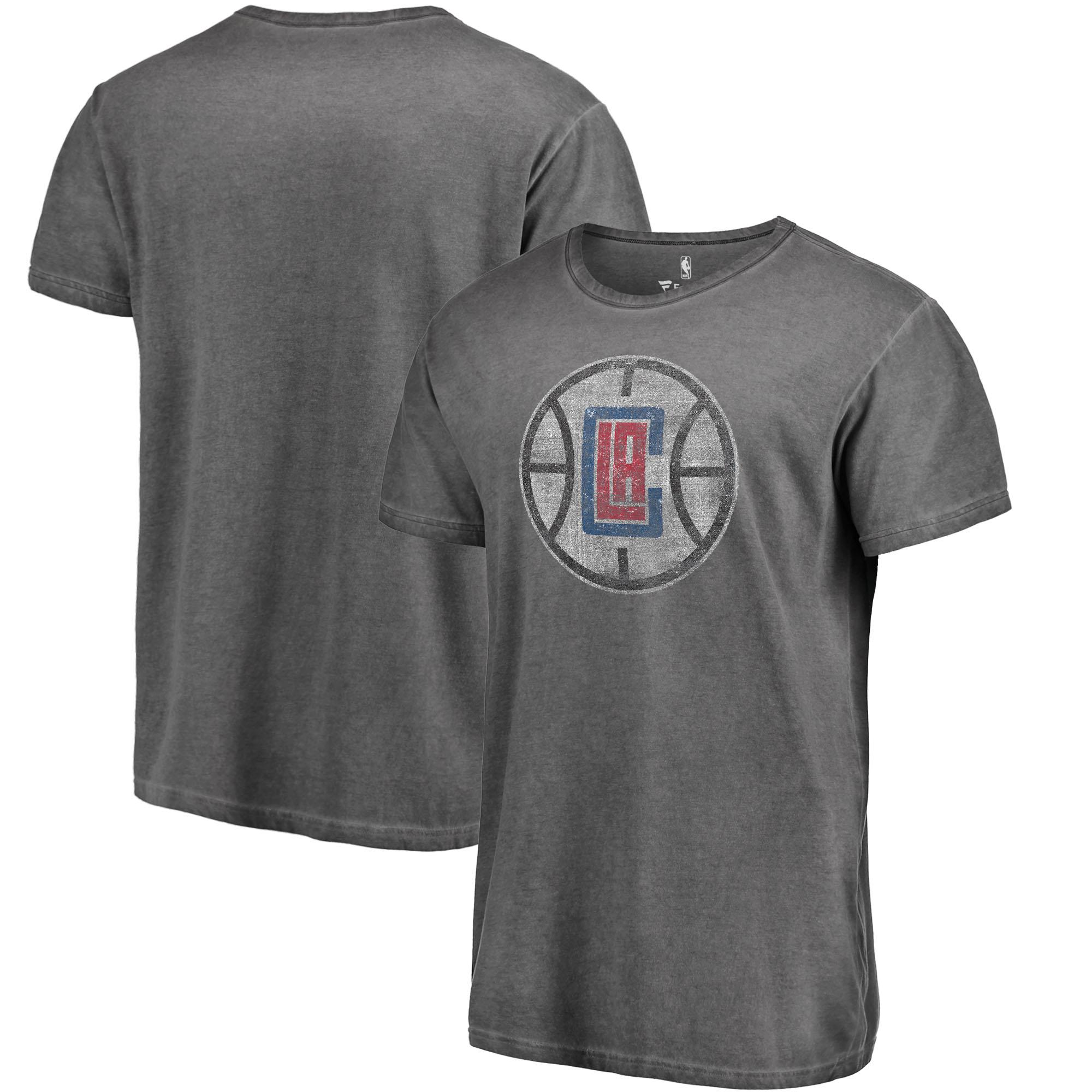 LA Clippers Fanatics Branded Shadow Washed Logo T-Shirt - Black