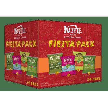Kettle Blend Chips (Kettle Brand Potato Chips Fiesta Variety Pack, 24 Ct )
