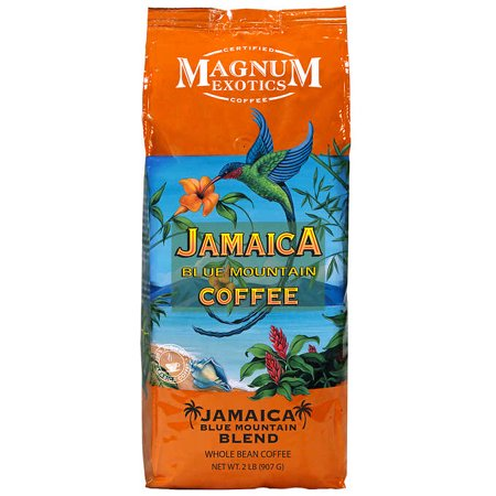 Blue Mountain Exotic Jamaica Blend Coffee, Whole Bean, 2 - Blue Coffee