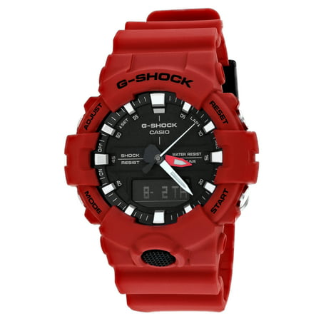 G-Shock Mens 3-Hand Ana Digi Dual Time Red Watch GA-800-4A Super Illuminator Change Time Casio G-shock Watch