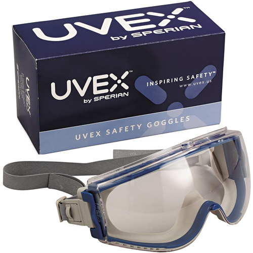 Uvex Stealth Safety Goggles, Teal Frame, Clear Lens