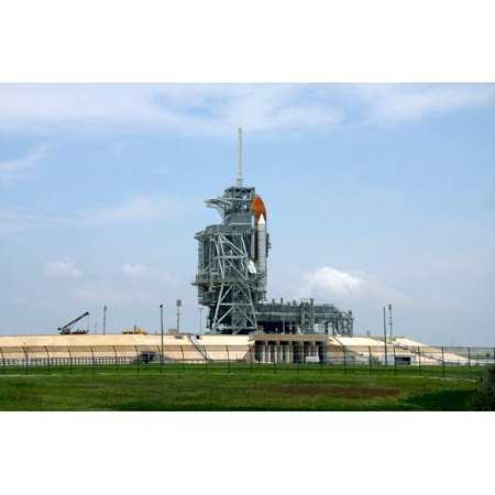 Space Shuttle Endeavour on the launch pad at Kennedy Space Center Florida Poster Print by Stocktrek