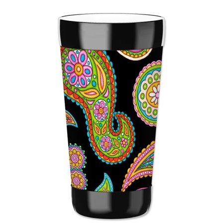 Mugzie 16-Ounce Tumbler Drink Cup with Removable Insulated Wetsuit Cover - Rainbow - Rainbow Cups And Plates