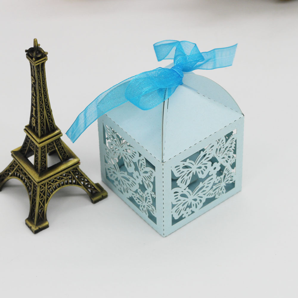 Mosunx 50Pcs Sweet Married Wedding Favor Box Gift Boxes Candy Paper Party Box Case