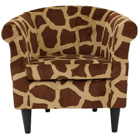 Nikole Club Chair - Giraffe Print