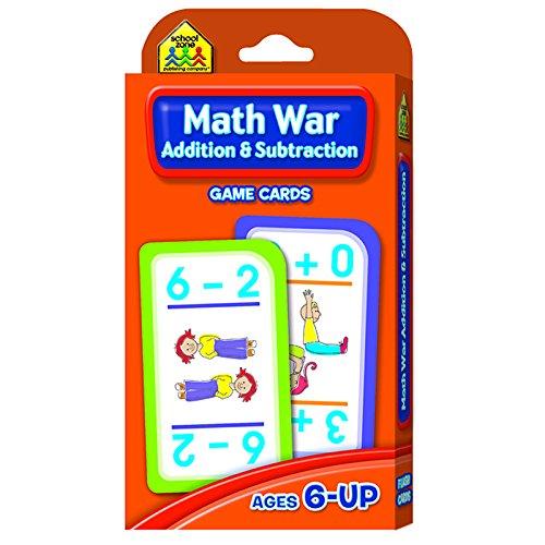 SCHOOL ZONE PUBLISHING MATH WAR ADDITION & SUBTRACTION (Set of 12)